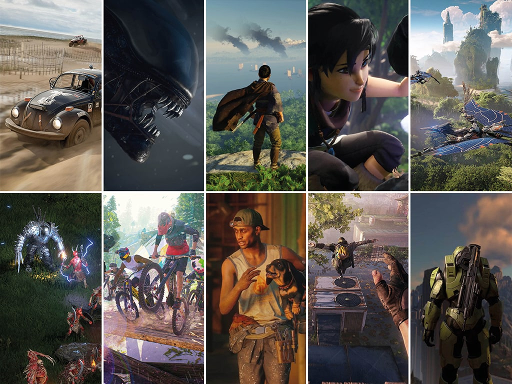 Screenshots der 10 top Spiele 2021