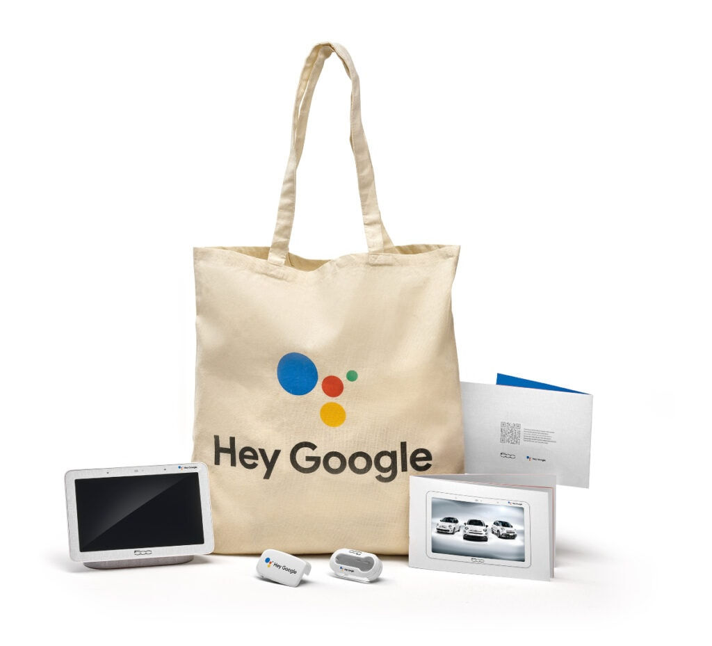 Welcome Kit für den Fiat Hey Google