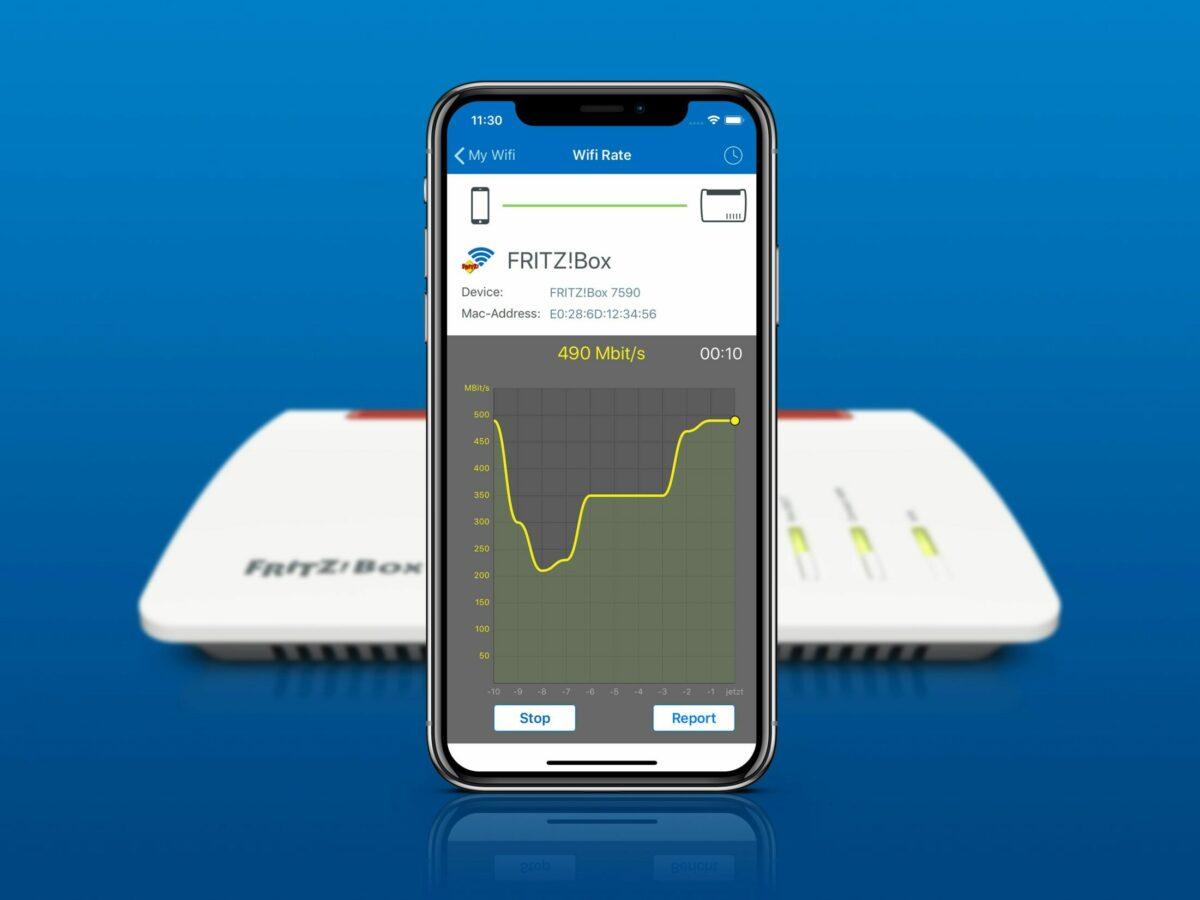 Ein Smartphone zeigt eine App an