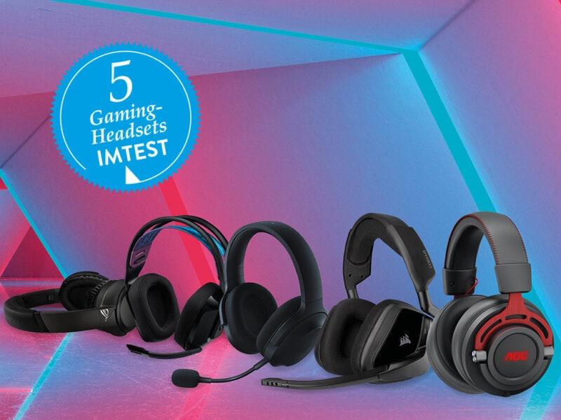 Gaming-Headset Test mit fünf Modellen
