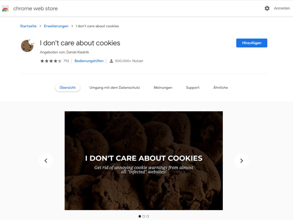 Cookie-Meldungen beim Surfen ausblenden