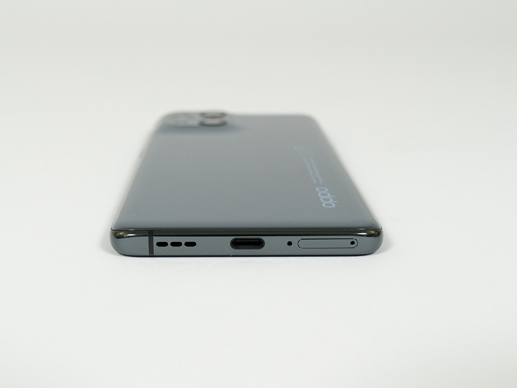 Unterkante des Rückseite des Oppo Find X3 Pro