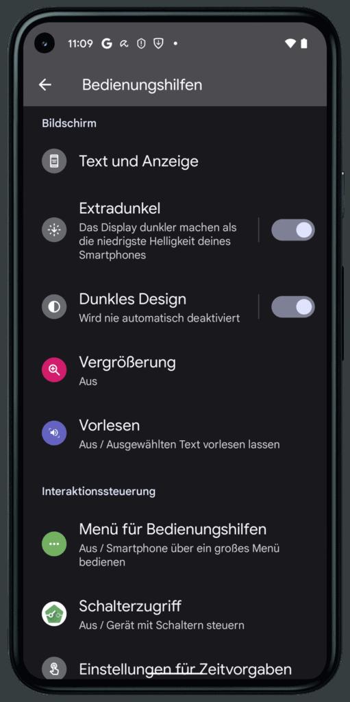 Extra dunklen Bildschirm einstellen