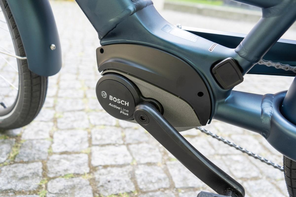 Detailaufnahme zeigt Bosch-Motor beim Electra
