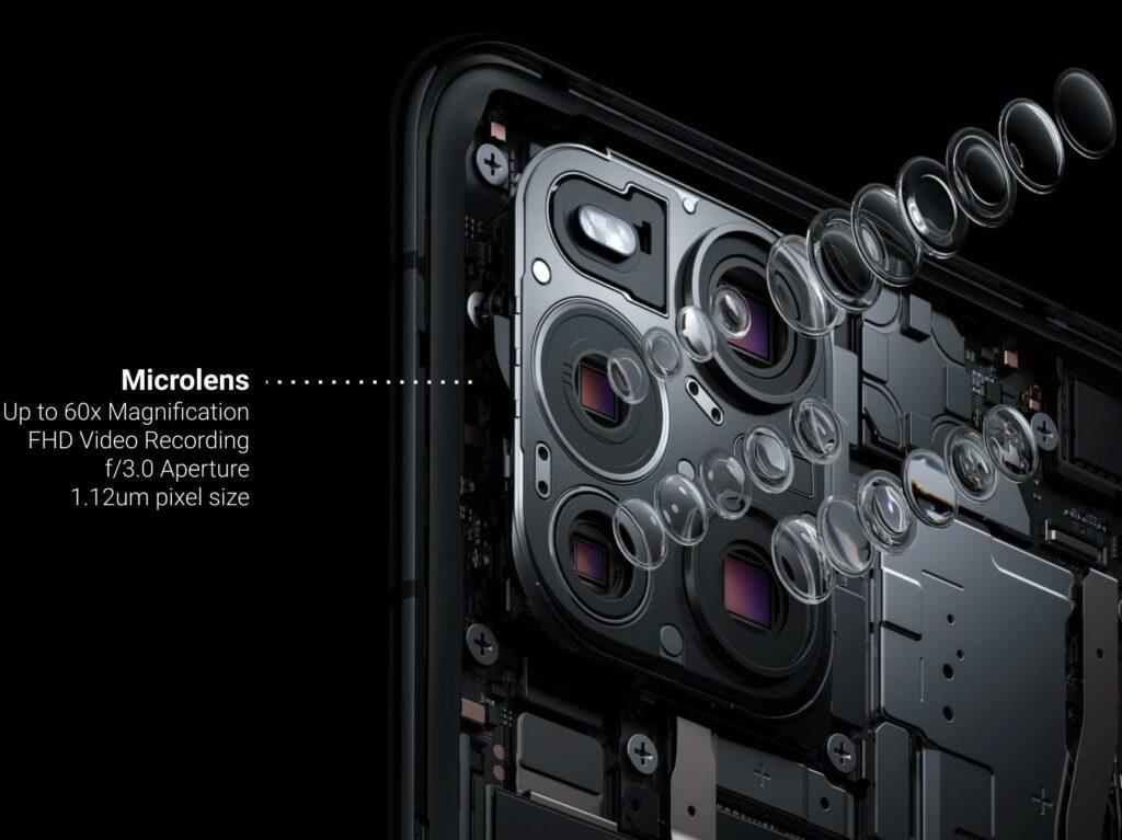 Oppo Find X3 Pro Mikroskop Kamera Aufbau