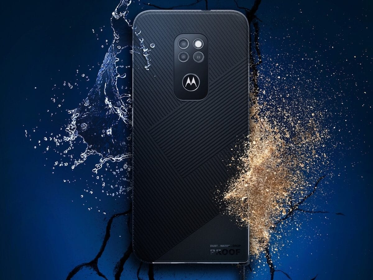 Ein Werbemotiv für das Smartphone Motorola Defy