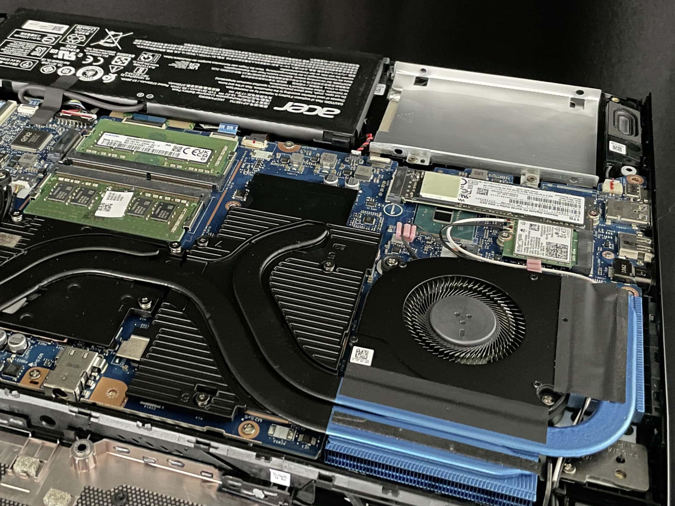 Acer Notebook von innen