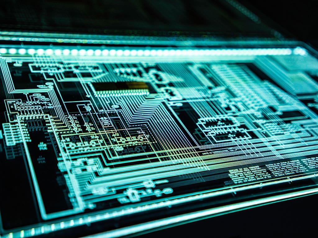 Symbolische Darstellung eines Computerchips