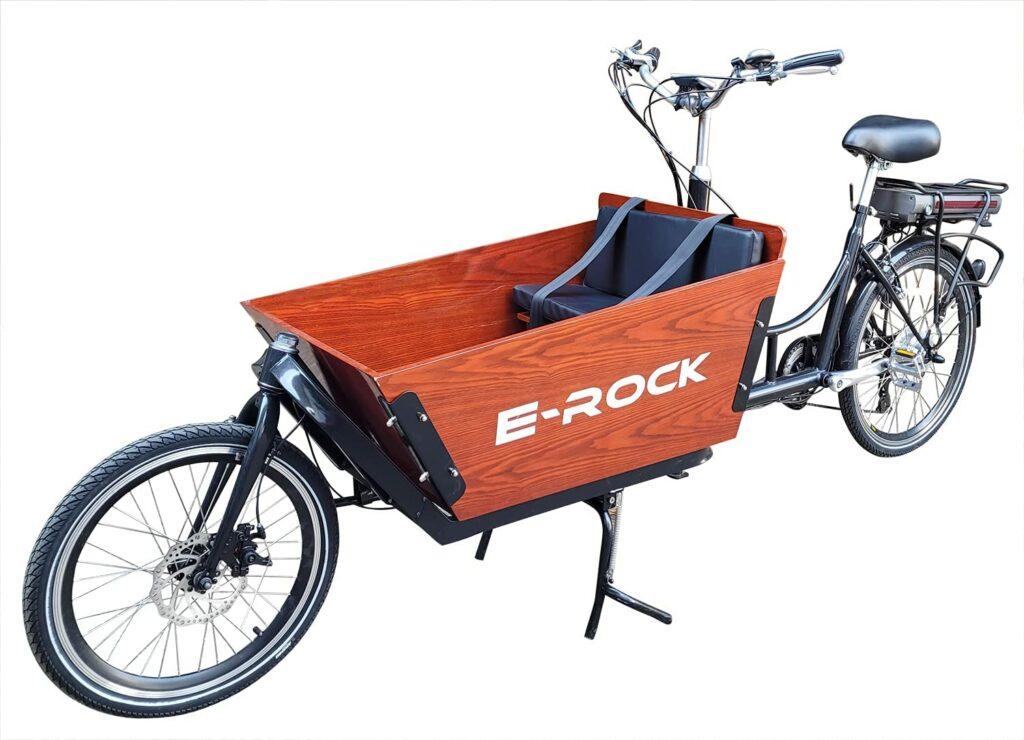 Das Lasten-E-Bike von E-Rock ist für Kindertransport gedacht