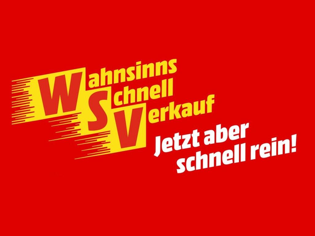 Gelbes WSV-Logo mit weißem Schriftzug auf rotem Hintergrund