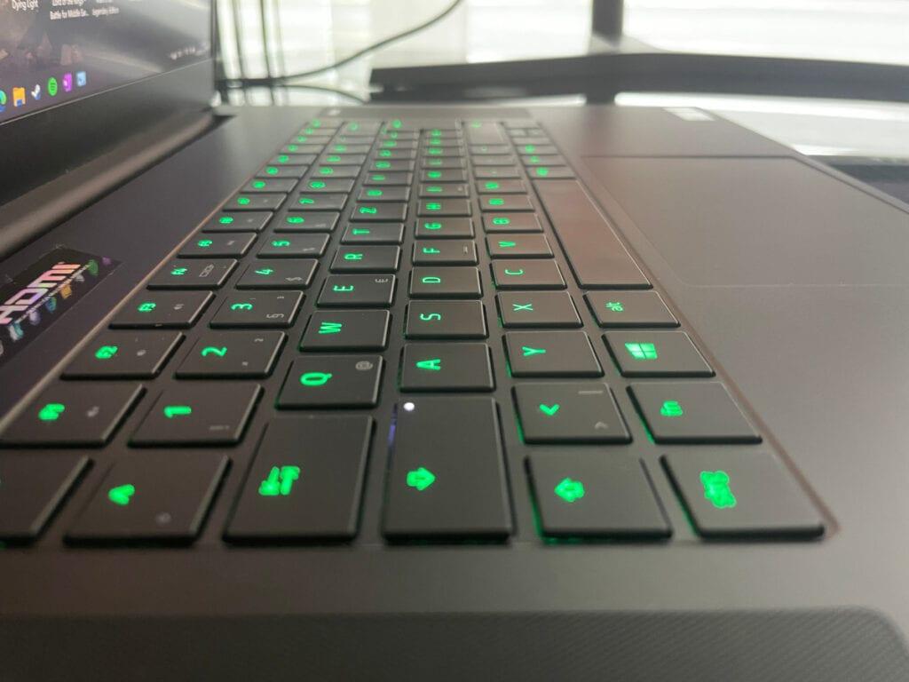 Detailaufnahme der Tastatur