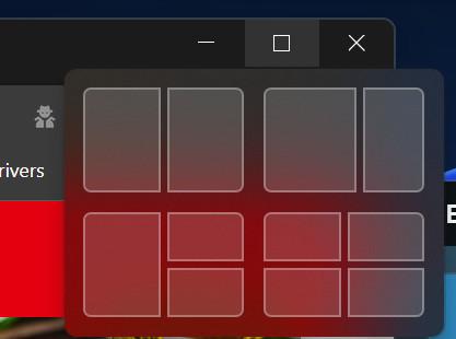 Screenshot Detail Fenster mit grauen rechteckigen Formen