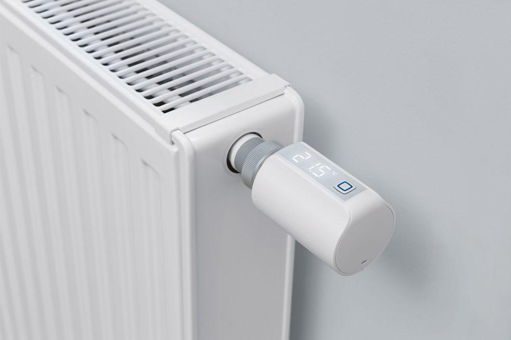 Smartes Thermostat an Heizkörper