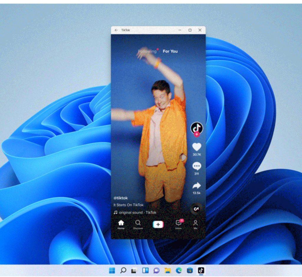 Screenshot Hintergrund mit blauer Form und geöffnetem Fenster im Smartphone-Format