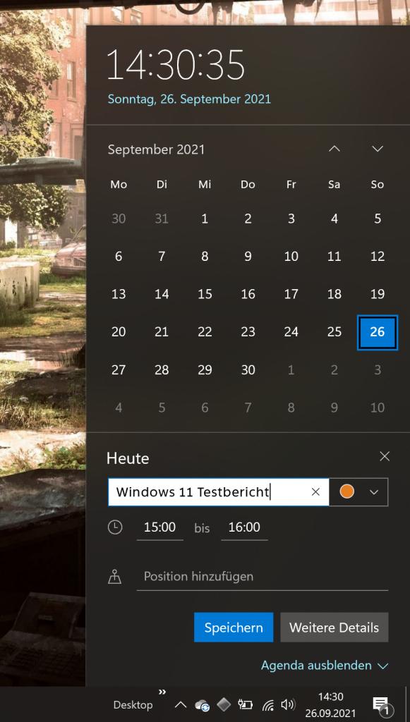 Screenshot Kalender