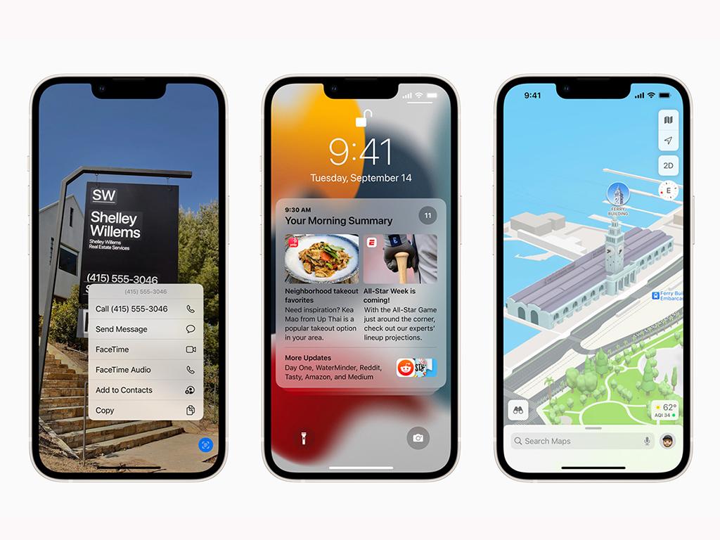 Apple iPhone 13 mit neuem iOS 15-Betriebssystem