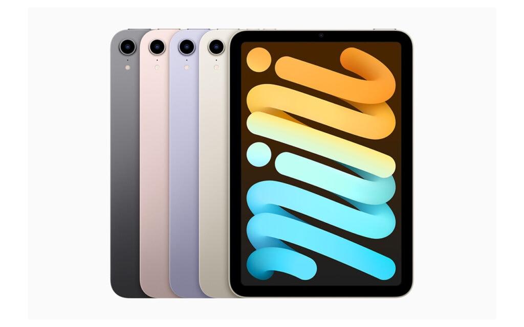 iPad mini in den vier Farben
