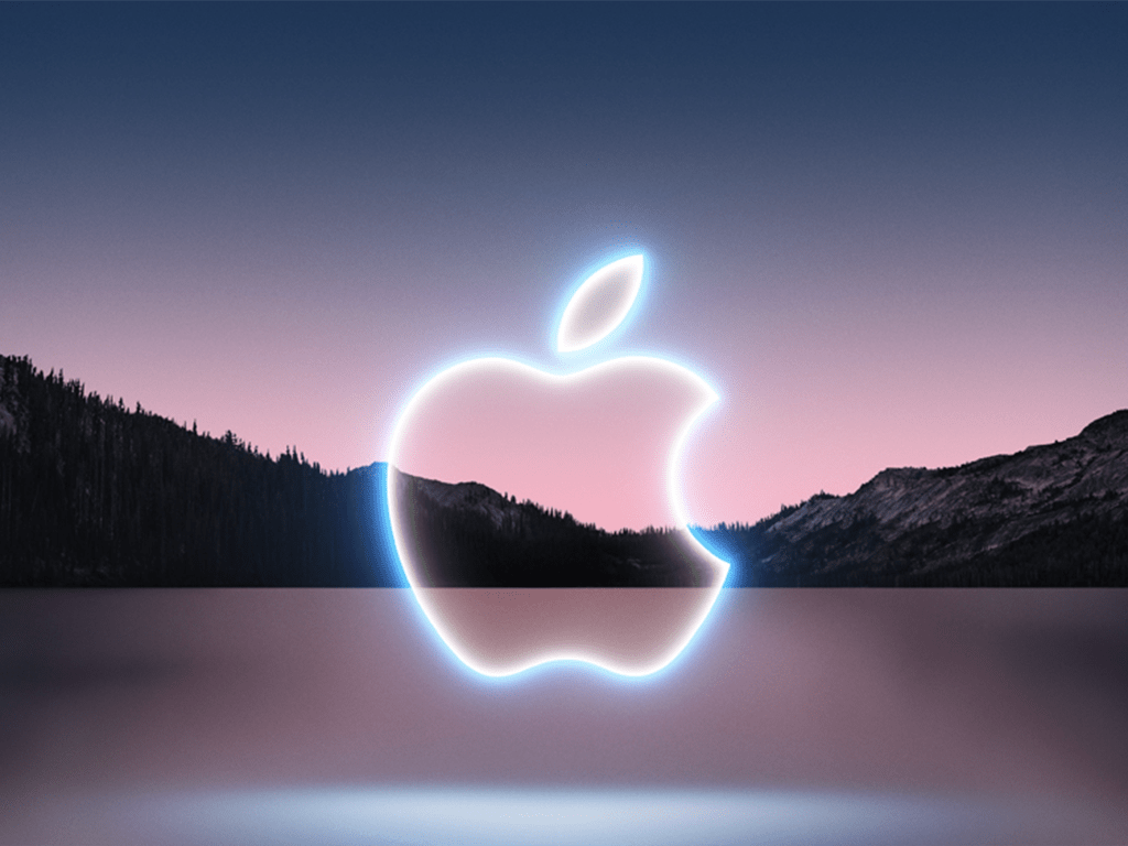 Das leuchtende Apple-Logo
