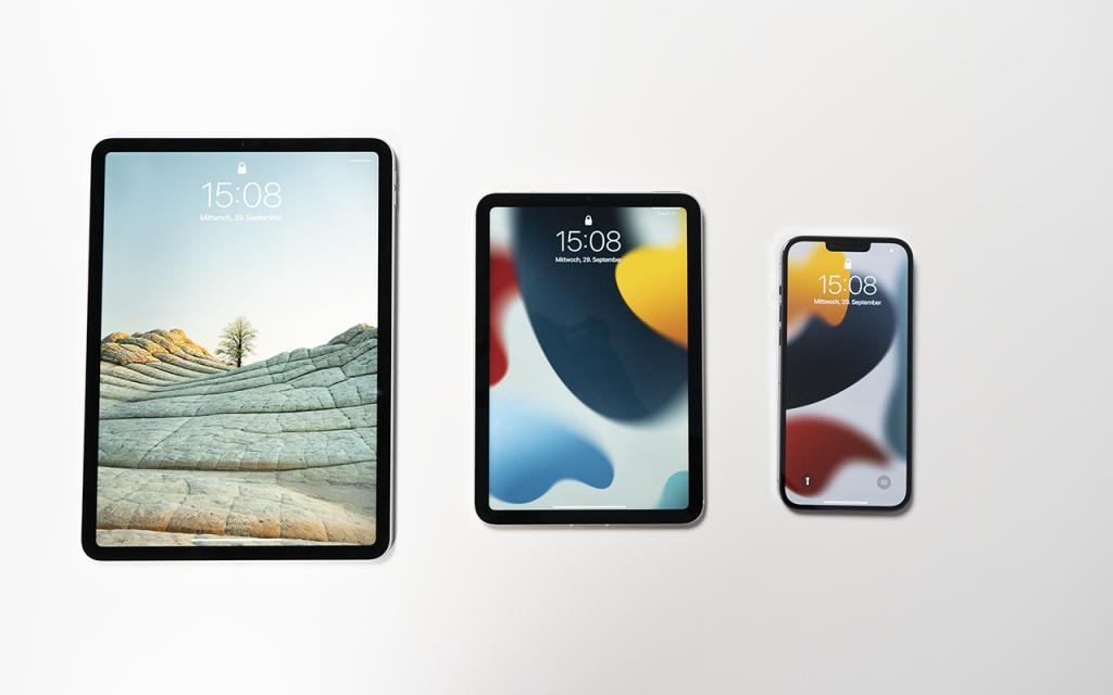 iPad mini 2021 iPad mini, iPad Pro und iPhone 13 Pro Max im Vergleich