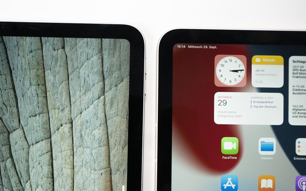 iPad mini 2021 Bildschirmrand