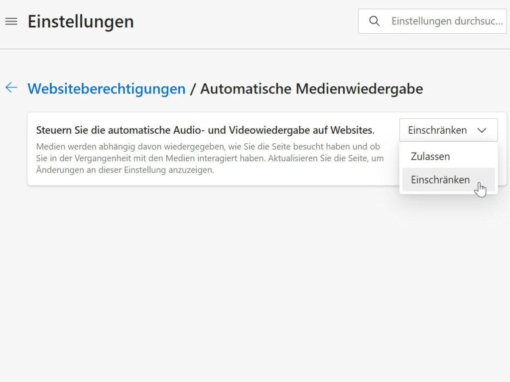Edge blockt Videos