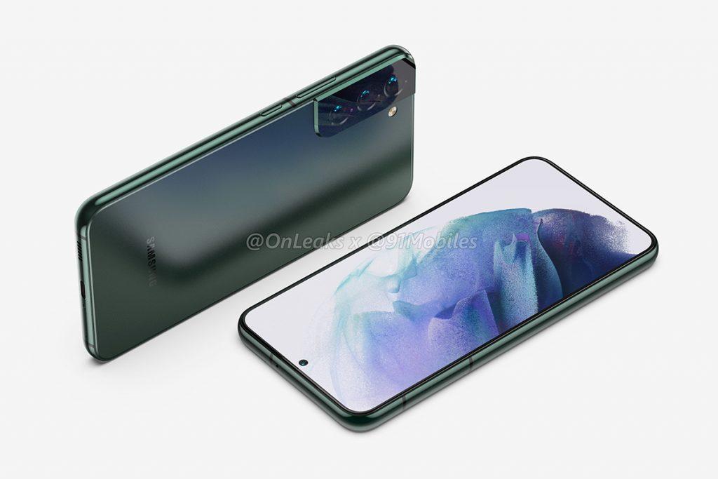 Vorder- und Rückseite des Galaxy S22+-Smartphone