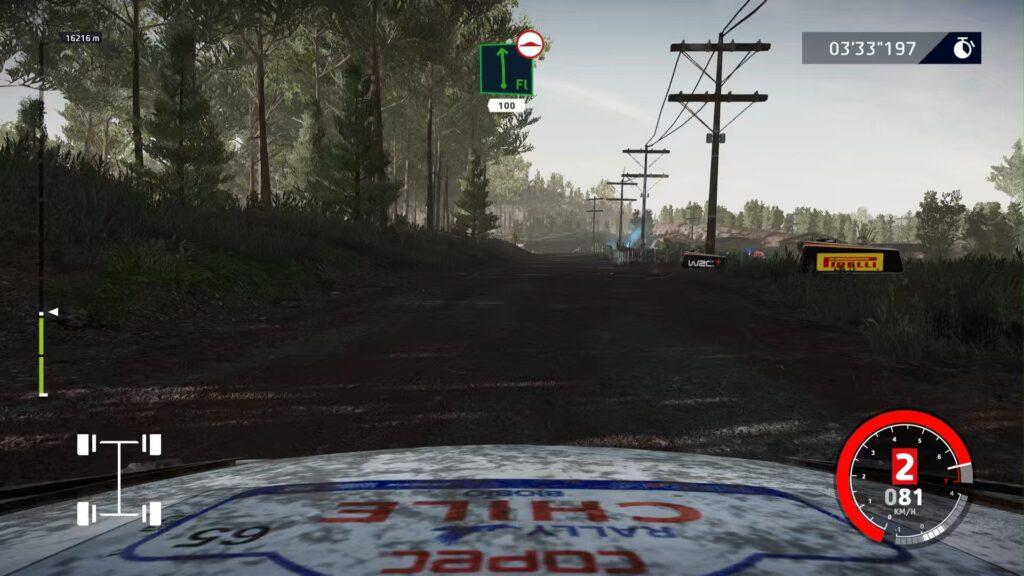 Screenshot Blick aus dem Auto über die Motorhaube