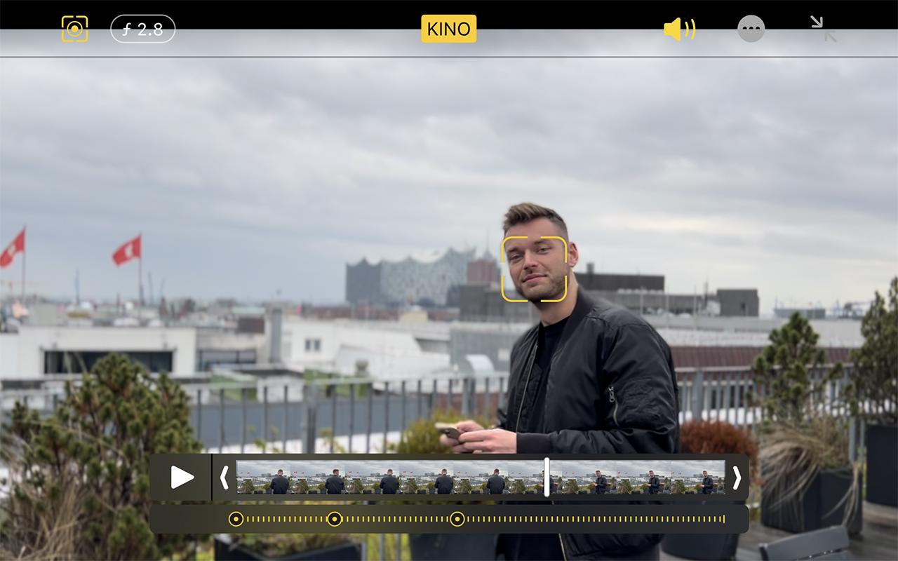Kinomodus Aufnahme mit iPhone 13