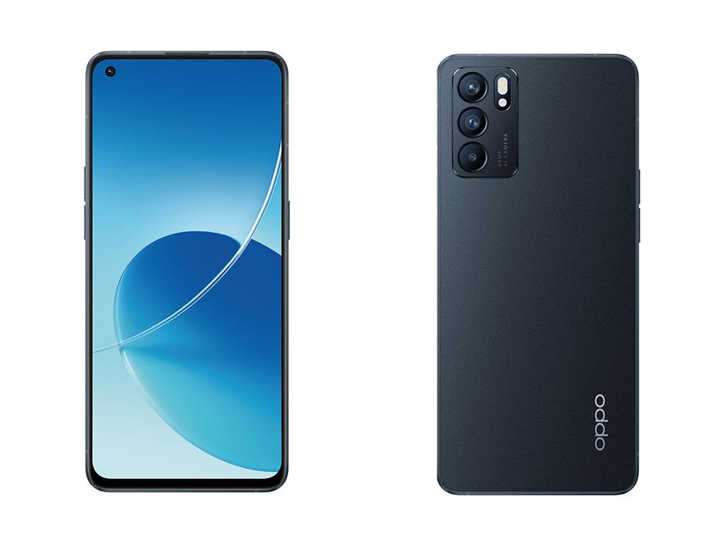 Zu sehen ist die Vorder- und die Rückseite des neuen Oppo-Smartphones