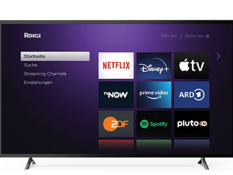 Flachbildfernseher mit neuem Roku-Betriebssystem