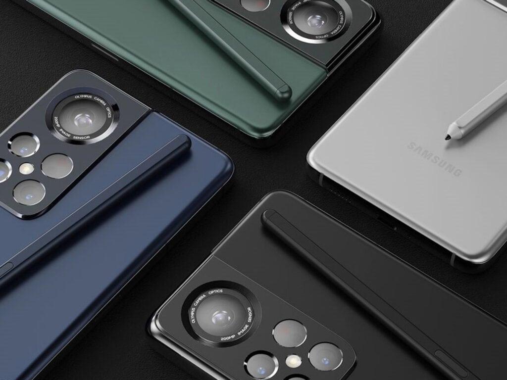 Ein Konzeptbild des Samsung S22 Ultra