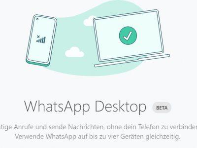 WhatsApp jetzt auf mehreren Geräten nutzbar