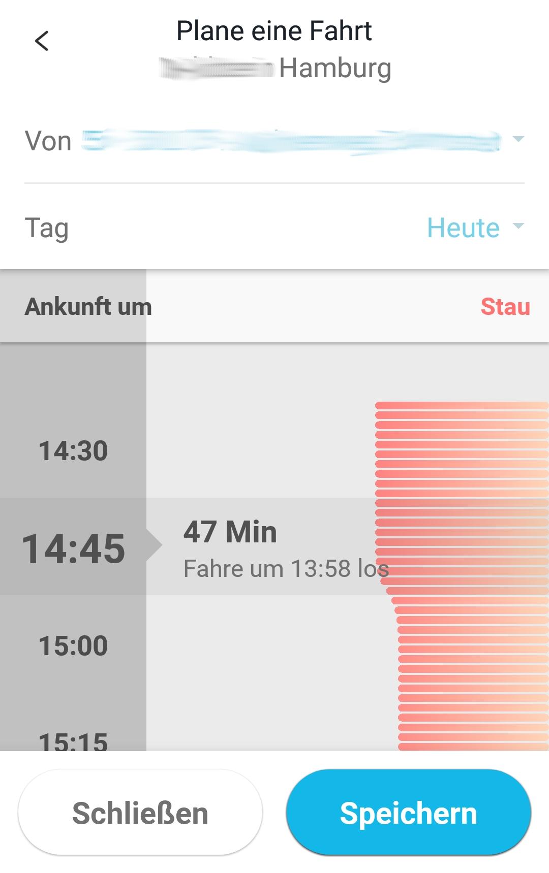 Screenshot diagramm mit uhrzeiten und roten Balken