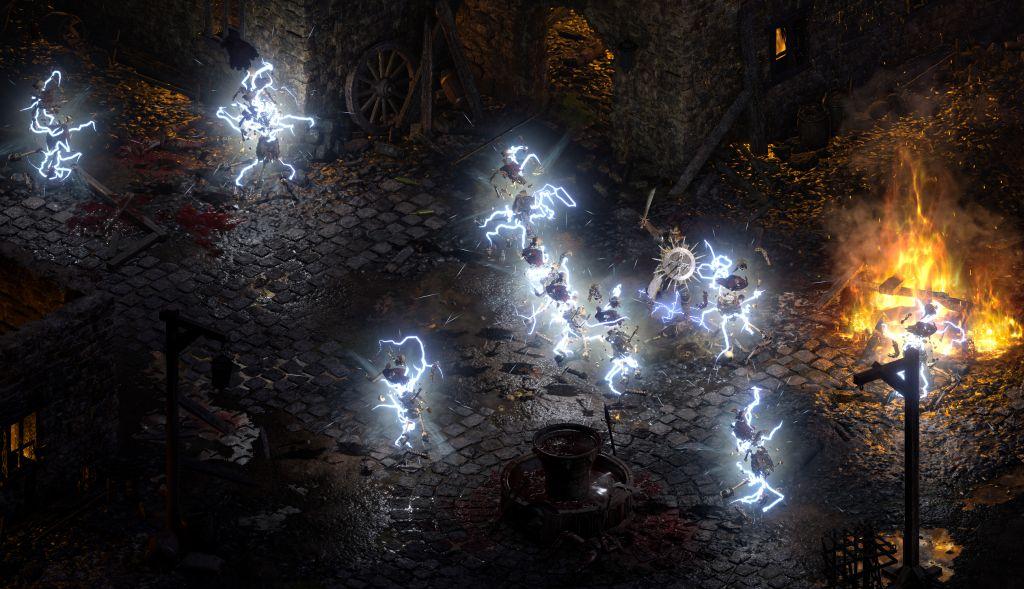 Screenshot Figuren mit Blitzen