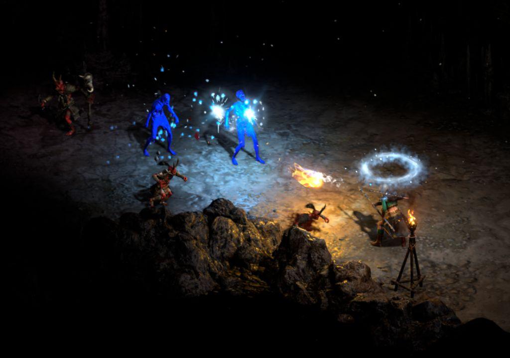 Screenshot Kampf mit blauem Schein