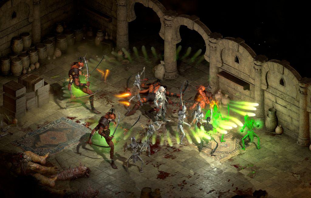 Screenshot figuren die grün leuchten