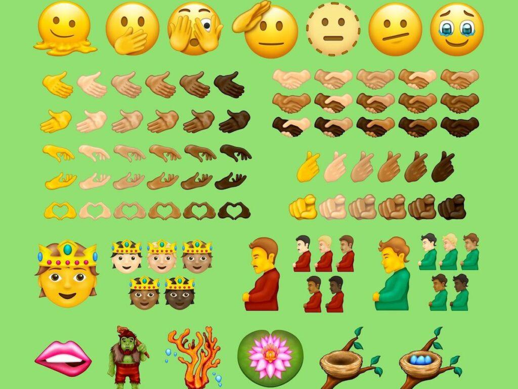 Bilder von neuen Emojis.