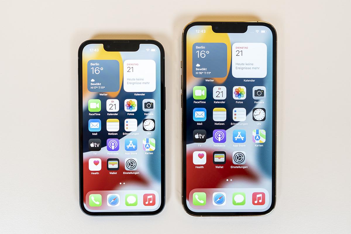 iPhone 13 Pro Vergleich iPhone 13 mini