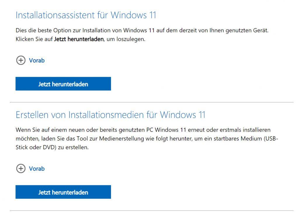 Das Bild zeigt den Installationsassistenten von Windows.