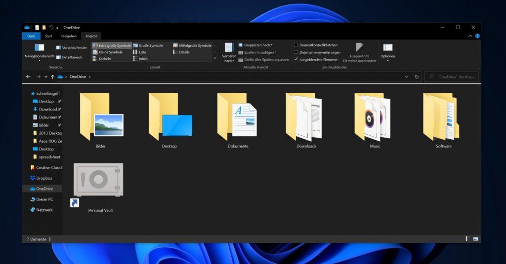 Das Bild zeigt einen Windows Explorer