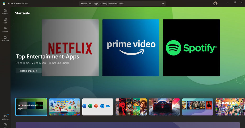 Screenshot App Store