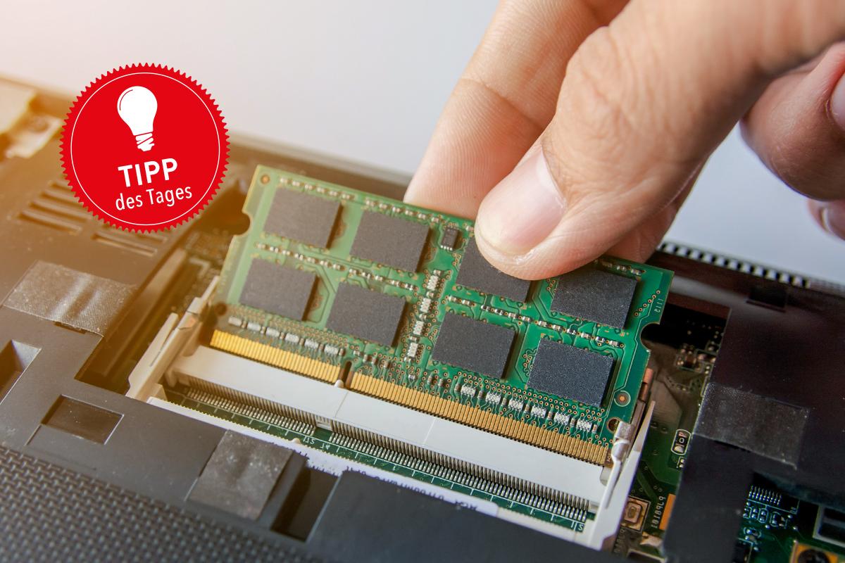Das Bild zeigt einen RAM-Riegel.