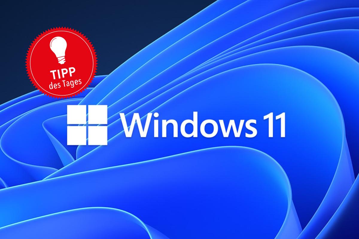 Windows 11 blauer Strudel Tipp des Tages