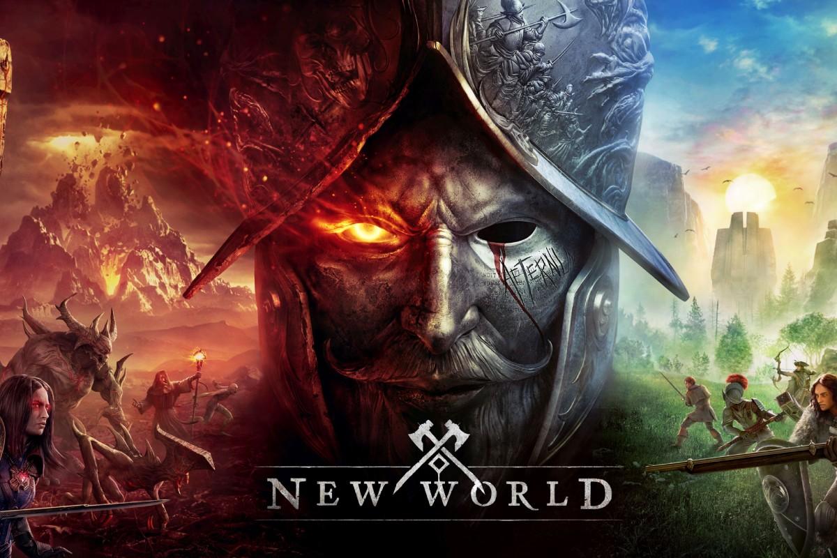 Das Bild zeigt das Titelbild des Computerspiels New World