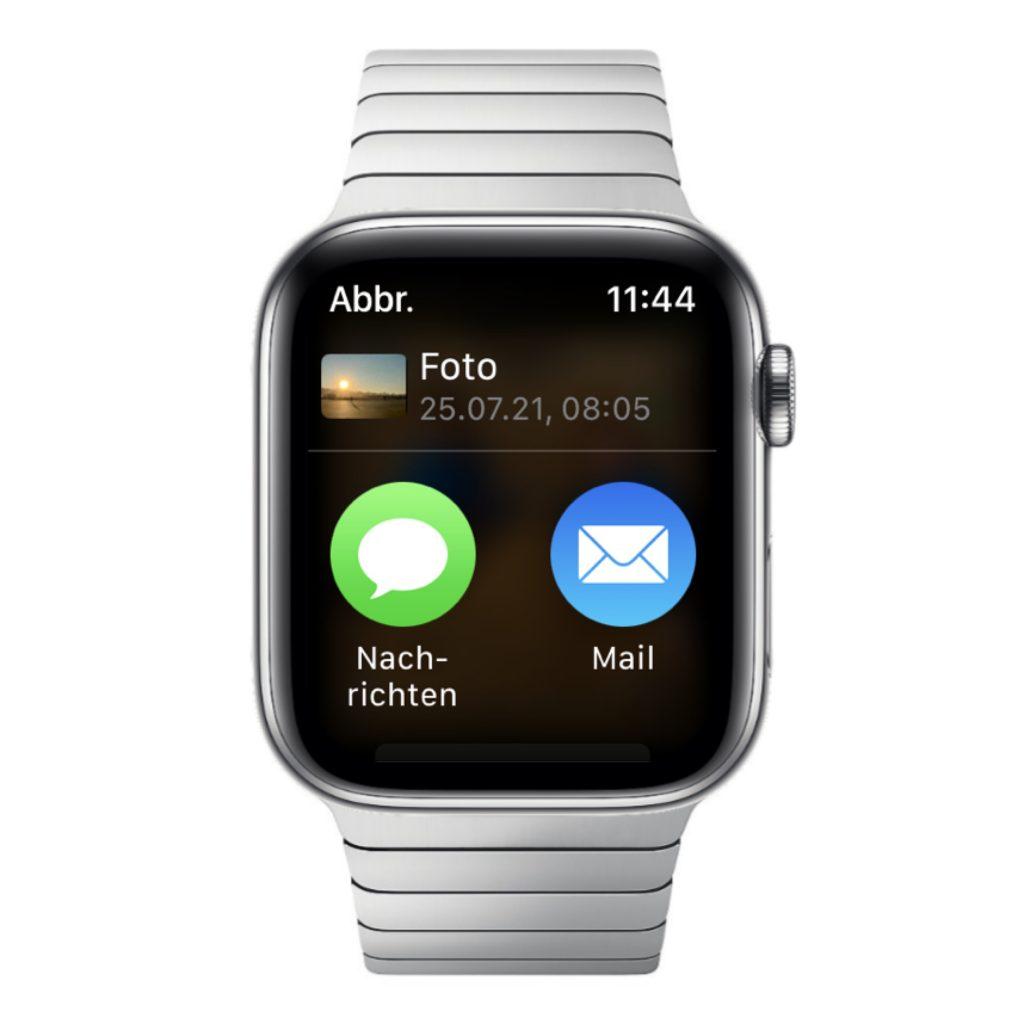 Bilder über die Apple Watch teilen