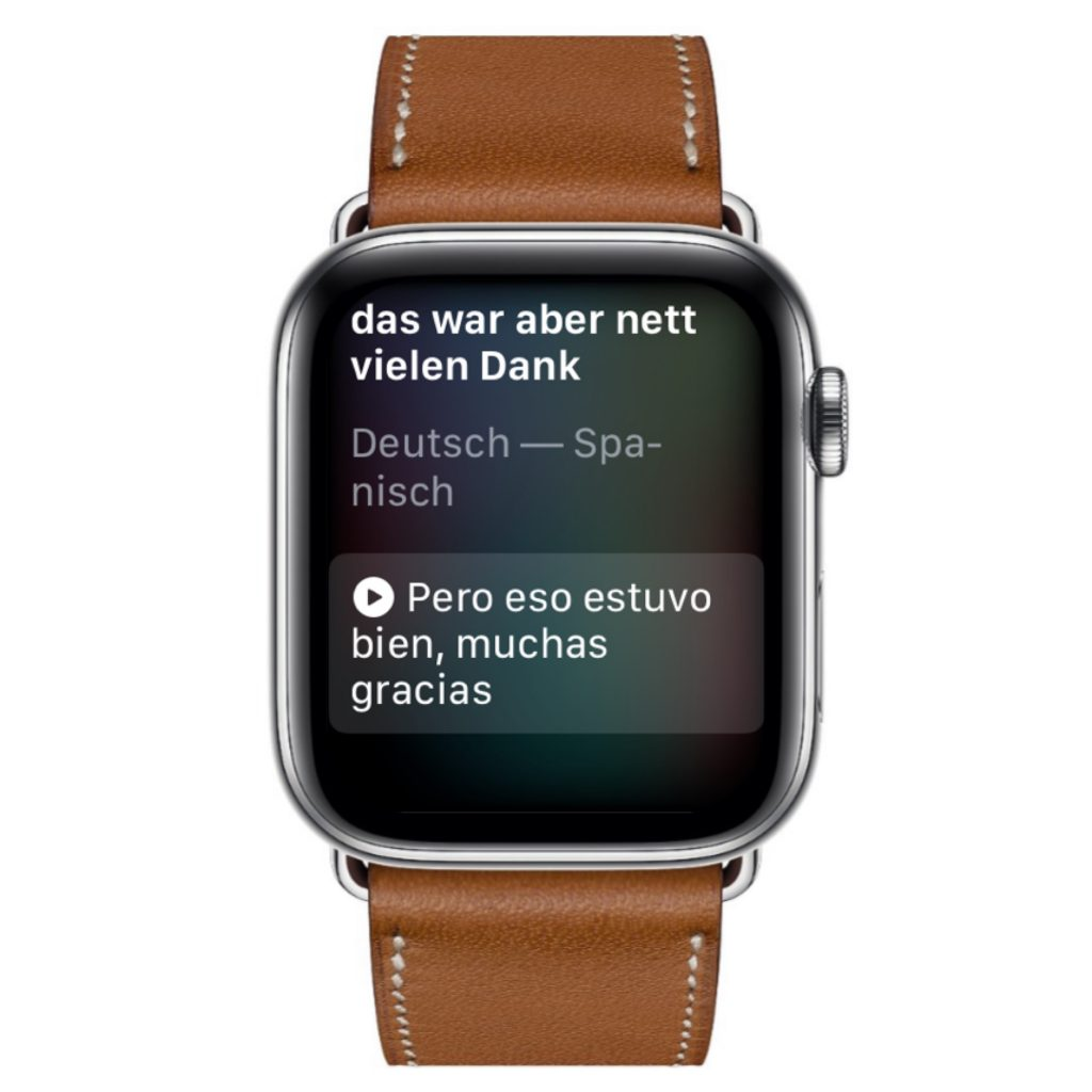 Übersetzen auf der Uhr