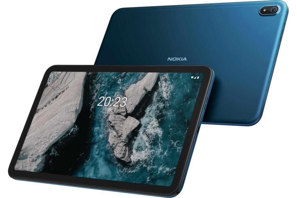 Das Nokia T20 von vorne und hinten