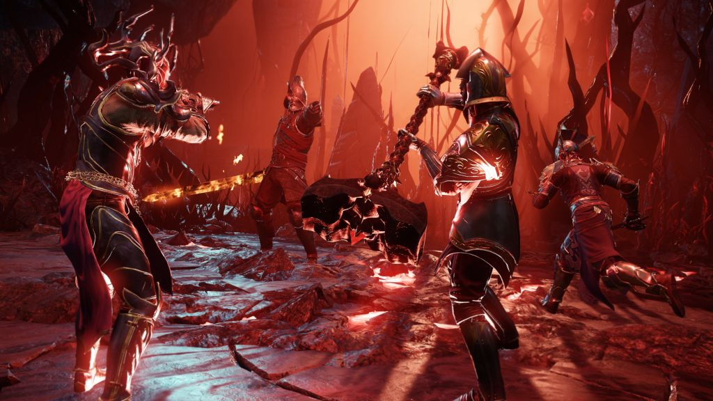 Das Bild zeigt einen Kampf mehrerer Charaktere.