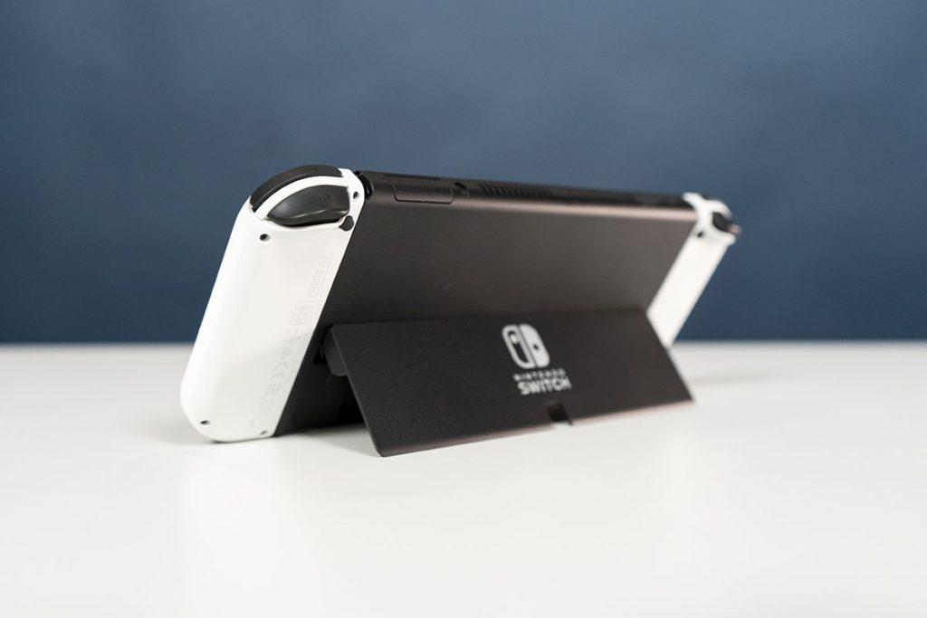 Die Klappe der Nintendo Switch