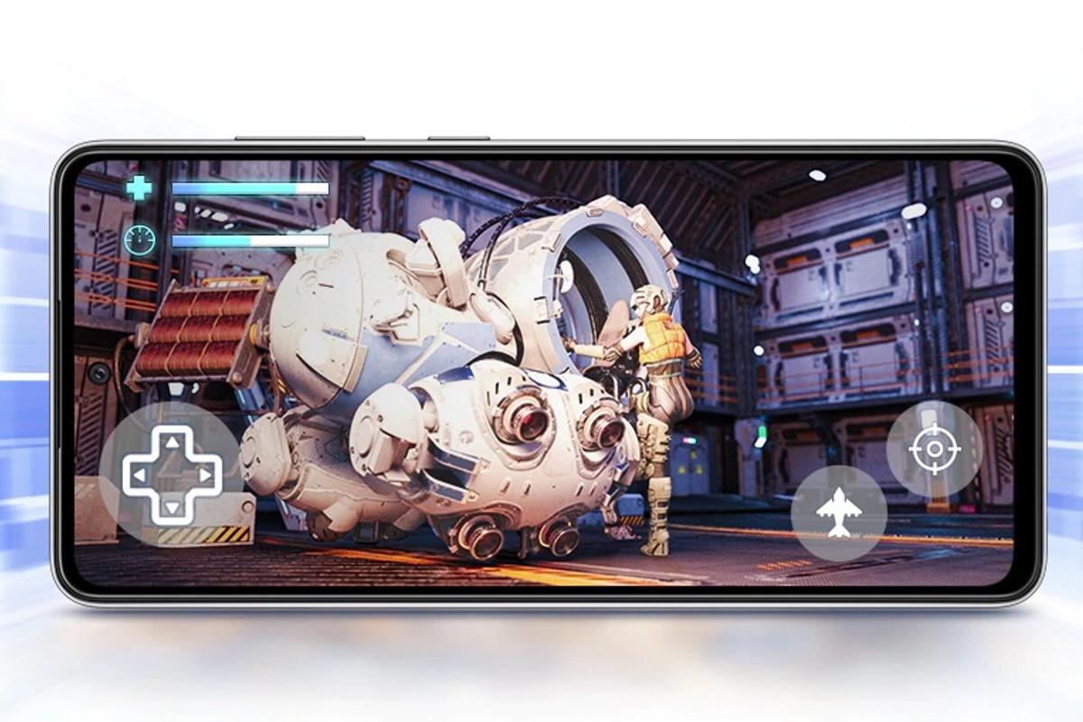 Samsung-Handy mit laufendem Spiel